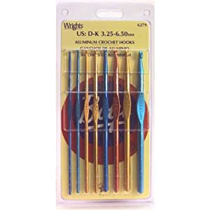 Image: Boye Aluminum Crochet Hook Set - feature optimally smooth throats and rounded heads for most precise, professional-looking work