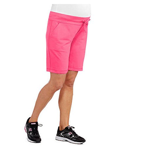 Womens Maternity French Terry Shorts Activewear Casualwear Shorts (Large, Pink)