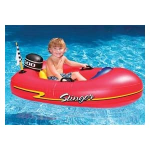 Speedboat Inflatable Ride-On Kiddie 1 Red