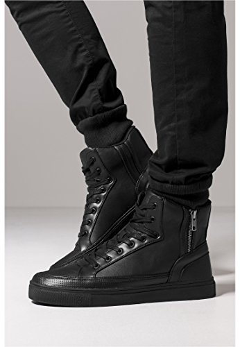 Zipper High Top Shoe black 43