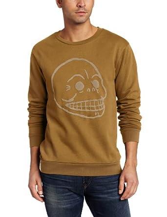 Cheap Monday Men's Per Printed Sweatshirt, Tobacco Green, Large