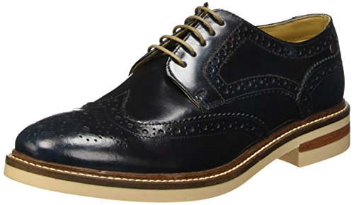 Base LondonApsley - Scarpe stringate Uomo , Blu (Bleu (Washed Blue)), 43