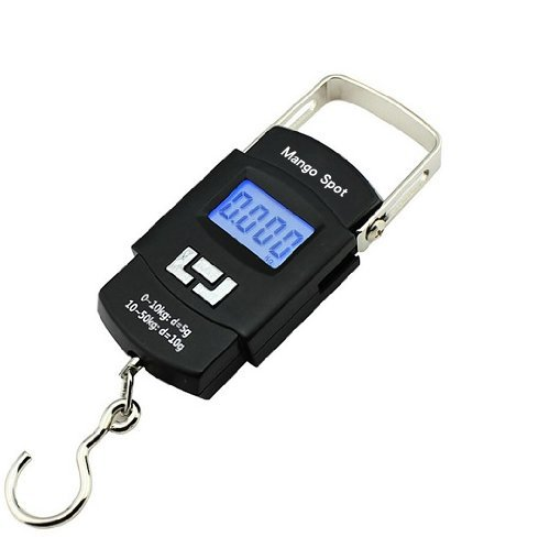 Mango Spot® LCD Electronic Balance Digital Fishing Hook Hanging Scale 50kg, 10g
