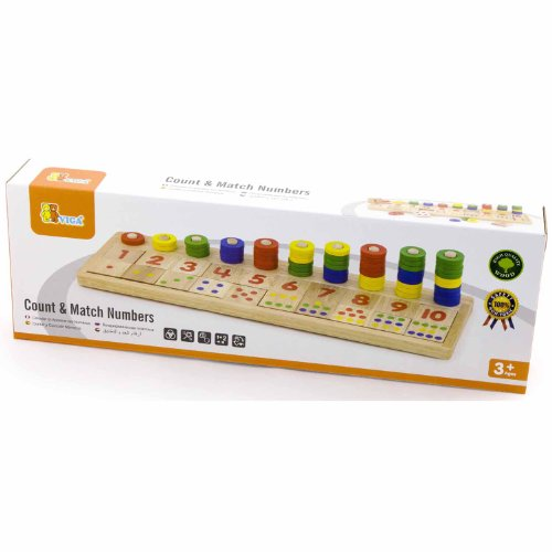 Viga Wooden Count & Match Numbers