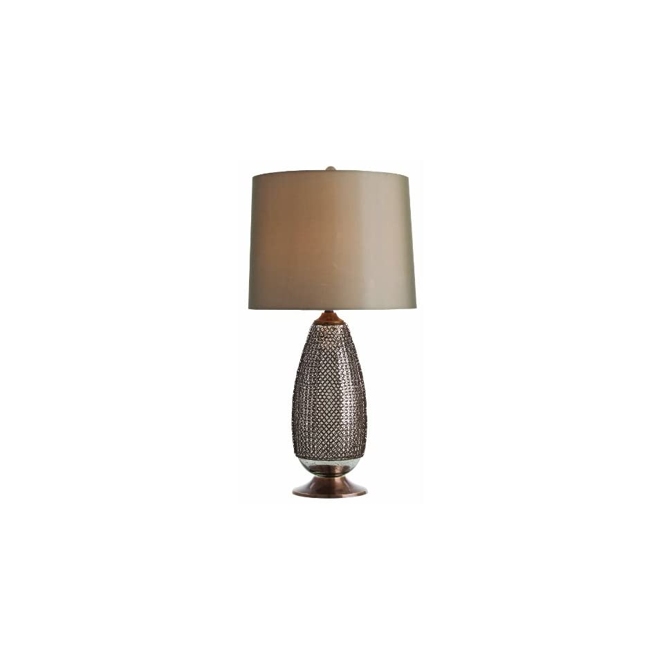 Arteriors DK42046 766 Chainmail Tall Antique Brass/Distressed Mercury Glass Lamp