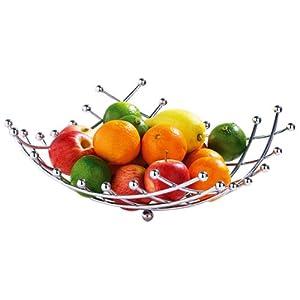 Premier Housewares Lattice Fruit Basket - Chrome