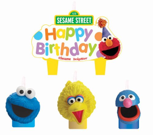 Amscan 220684 Sesame Street Party Molded Cake Candles - 1