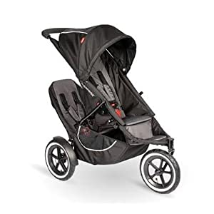 Phil Teds Classic Stroller with Double Kit - Black