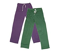 IndiWeaves Women Super Combo Pack 4 (Pack of 2 Lower/Track Pant and 2 T-Shirt)_Purple::Green::Purple::Black _XXL