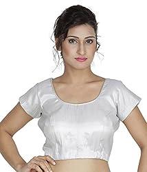 Alankar Textiles White Polysatin Blouses