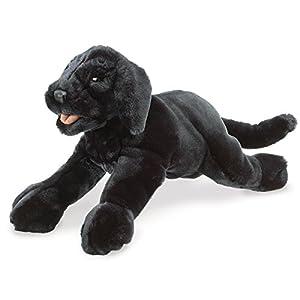 Folkmanis Black Labrador Puppy Puppet from Folkmanis