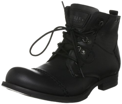 Bunker Men's Tibet Lux1 Black Lace Up Boot 9 UK