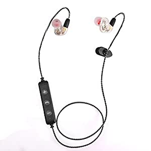 maxbo heart shaped double driver units loud sport wireless bluetooth headphones. Black Bedroom Furniture Sets. Home Design Ideas