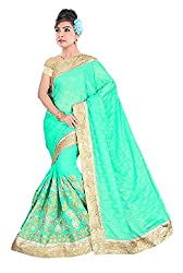 Shiv Fashion Women's Georgette Saree (BABY_Green_Freesize)