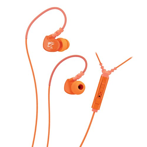 Meelectronics Sport-Fi M6P Noise Isolating In-Ear Headphone With Microphone, Remote And Universal Volume Control, Orange