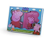 Peppa Pig Passport Holder And Luggage Tag Set Pink
