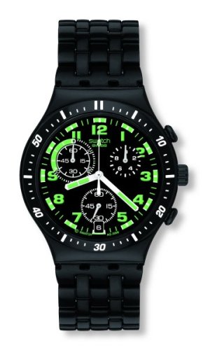 Swatch Irony Chronograph Down In Darkness Mens Watch YCB4009AG