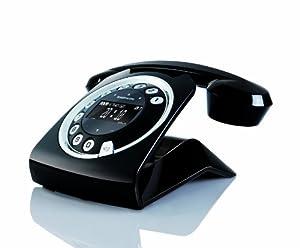 Sagemcom Sixty Digital Cordless Retro Style Telephone with Answering Machine - Black