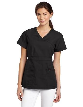 Ecko Women's Scrubs Nicki Top, Black, X-Small