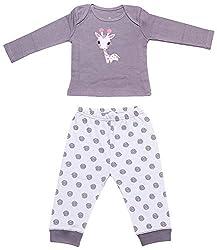 BIO KID Clothing Set for Baby (BG1I-T190-68_3-6 Months, 3-6 Months, Dark Purple / Light Purple)