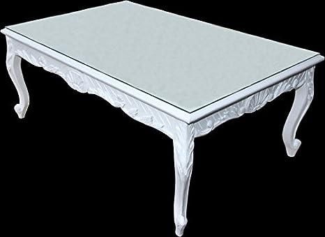 White Baroque Coffee Table 120 x 80 cm - Mod2