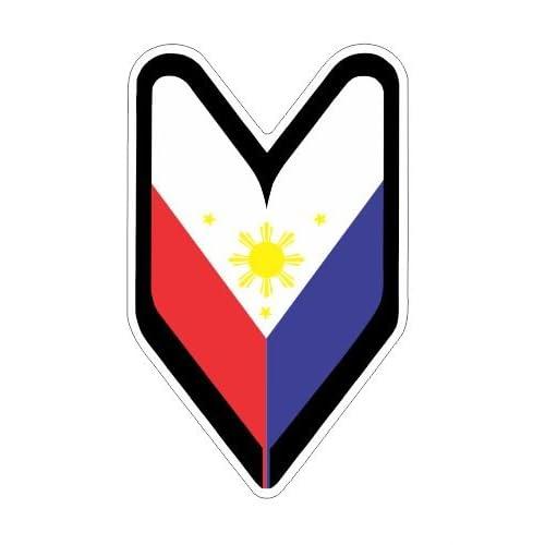 Philippine flag filipino vinyl decals bumper stickers drifting drift