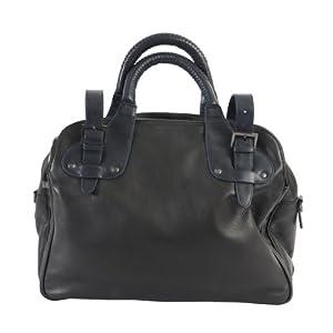 Kenneth Cole Leather Black Briefcase Messenger Shoulder Bag Handbag