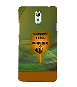 PrintVisa Quotes & Messages Success 3D Hard Polycarbonate Designer Back Case Cover for Lenovo Vibe P1M