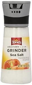 Tone's Adjustable Grinder Sea Salt, 11.5 Ounce