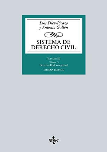 Sistema De Derecho Civil. Derechos Reales En General. Volumen III: 3 (Derecho - Biblioteca Universitaria De Editorial Tecnos)