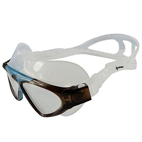 Ipow Erwachsene Schwimmbrille Schwimmmaske mit Höchstem Tragekomfort + Antibeschlag + große Wasserdicht swimming goggles