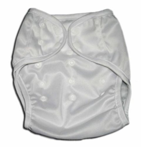 One Size Fit All- Diaper Covers for Prefolds or Regular Inserts PUL - WHITE