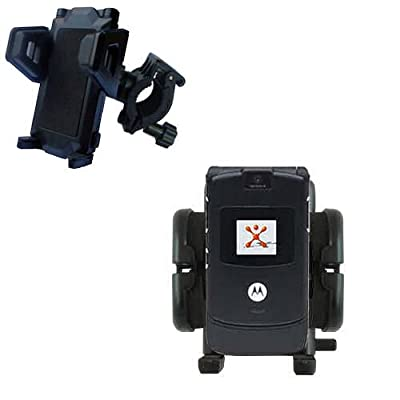 Bike Handlebar Holder Mount System for the Motorola RAZR V3 - Gomadic Brand