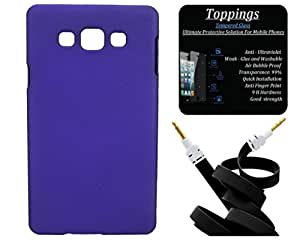 Toppings Hard Case Cover With Aux Cable & Screen Guard For Samsung Galaxy Z1 - Purple