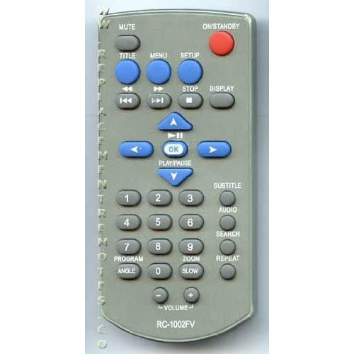 Amazon.com: Audiovox Durabrand DVD Player Remote Control RC-1002FV