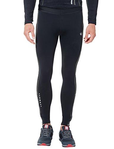 Ultrasport Pantaloni Jogging per Uomo con Funzione Quick Dry, Lungo, Nero/Paloma Grigio, L
