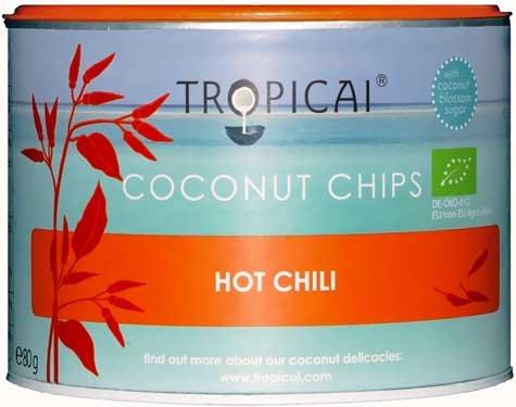 Tropicai Bio Kokosnuss Chips Hot Chili 80g