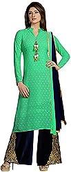 K.K BROTHERS Women's Georgette Dress Material (Green)