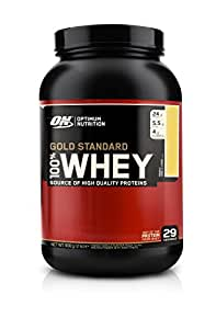 Optimum Nutrition Gold Standard 100% Whey French Vanilla Crème Protein Powder, 908g