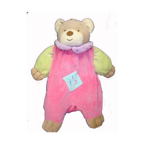 Angel Baby Super Soft Teddy Bear Pink Pajama Bag/diaper Holder and Lovie Banky