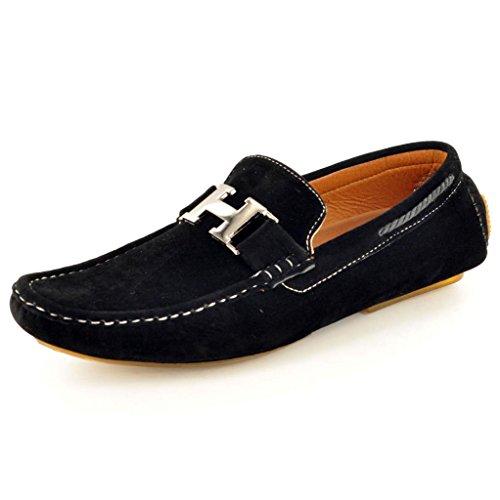mens-black-slip-on-faux-suede-casual-loafers-moccasins-shoes-uk-10-eu-44-black