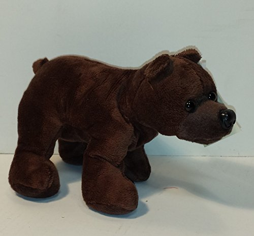 "8"" Grizzly Bear Plush Bean Mascot"