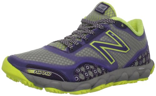 New Balance Women's WT1010 Minimus Trail Shoe,Grey/Purple,9 B US