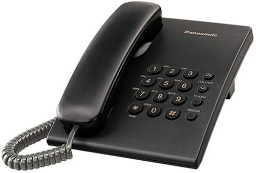 Panasonic KX-TS500B Corded Telephone, Black