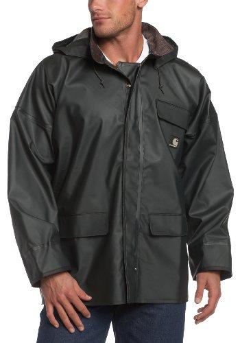 Carhartt Men's PVC Rain Coat, Green, Large Regular