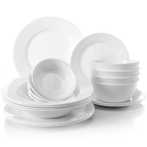 Joy Mangano Corelle Strokes of Bright White 20-piece Premier Dinnerware Set (Bright White  sc 1 st  Dinnerware Sets - Tumblr & Dinnerware Sets \u2014 [HOT] Joy Mangano Corelle Strokes of Bright White...