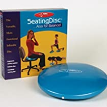 """FitBALL Seating Disc, 15"""", Iridescent Blue, Retail Box"""
