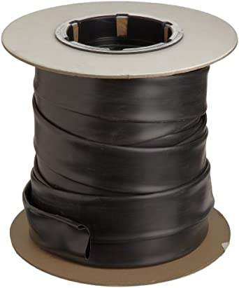 "Insultab 300750001A5 HS-105 3/4"", 50' Black Polyvinylchloride Heat Shrink Tubing"