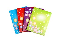 Lightahead LA-7571 Display book Folder with 20 pockets, A4 US Letter size .Set of 4 in colors Purple, Blue, Red, Green