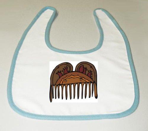 Baby Bib with decorated, teeth, Ireland, Europe, comb, design, grooming image